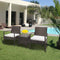 Outdoor Patio Garden Wicker Furniture Rattan Sofa Set with Cushions 3PC - mbrbproducts