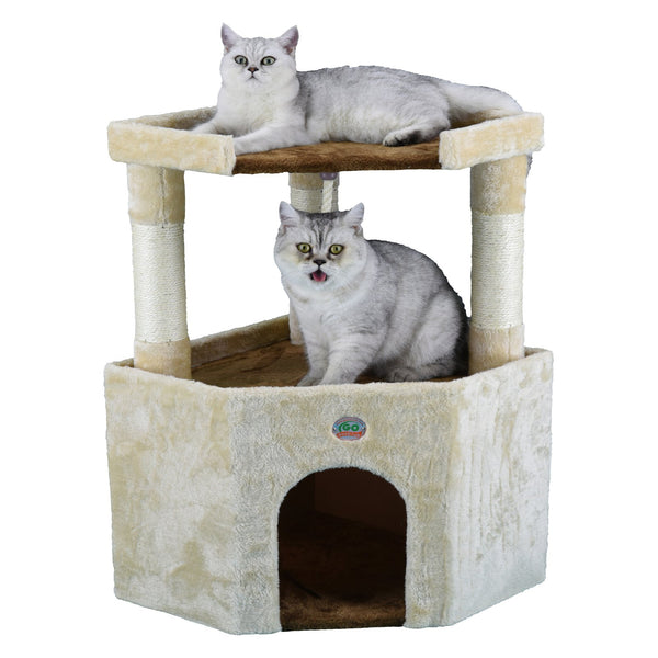 Cat Tree Condo Furniture 32 inch Corner - mbrbproducts
