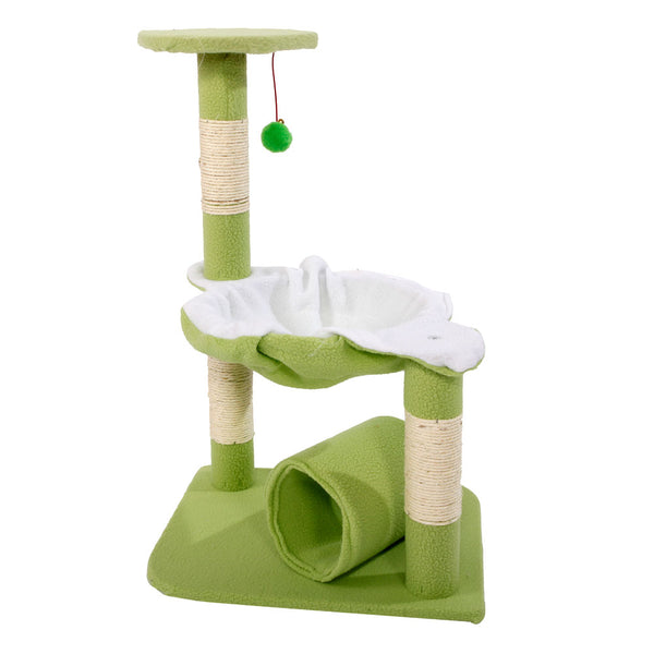 Cat Tree Tower Condo Sisal Scratcher Furniture Kitten Pet House Hammock Green - mbrbproducts
