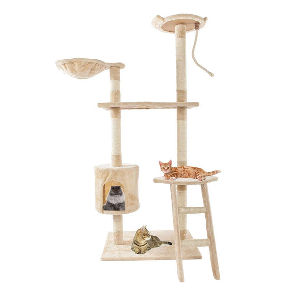 Cat Tree Pet Scratching Post Cats Furniture Play Climbing Tower House - mbrbproducts