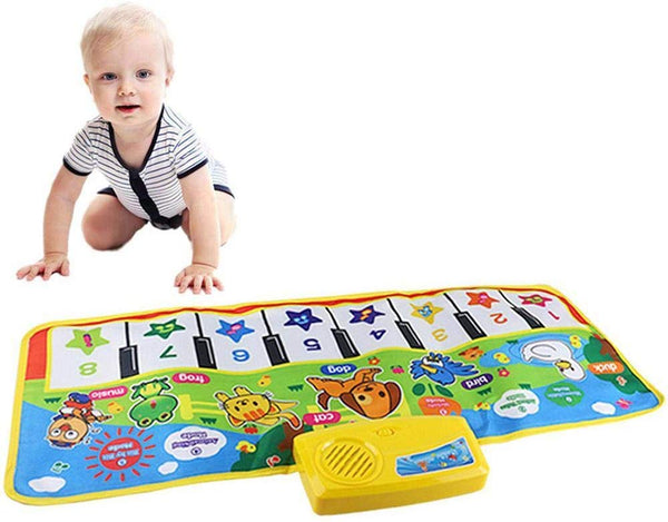 Touch Play Keyboard, Music Singing Gym Carpet Mat for Baby Toddler Piano Keyboard Floor Mat Carpet Funny Play Blanket for Kids Baby - mbrbproducts