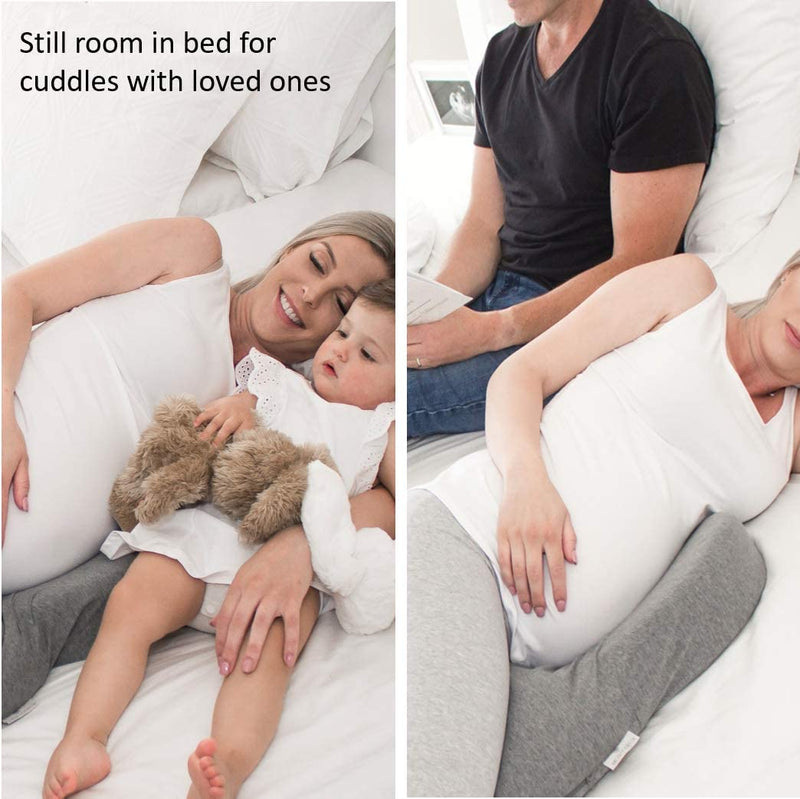 Full Body Pregnancy Pillow, Chiro Designed Maternity Pillows with 100% Cotton Removable Washable Cover - mbrbproducts