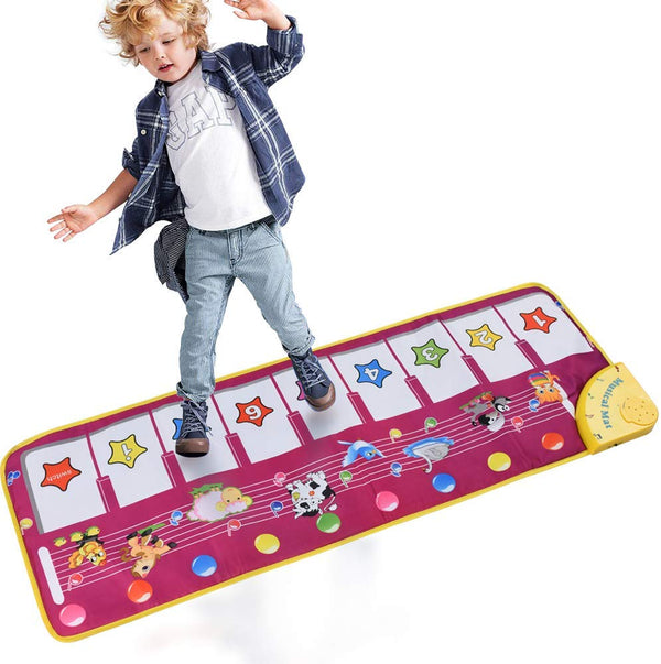 Piano Musical Mats, Kids Children Touch Play Game Dance Music Animal Blanket Carpet Mat, Boys Girls Baby Early Education Toys - mbrbproducts