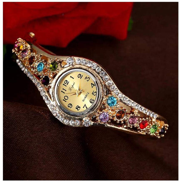 Watch Jewelry Crystal Diamond Rhinestone Elegant Ladies Watches - mbrbproducts