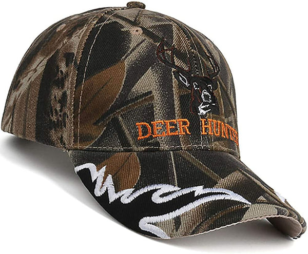 Hunting Hats for Men - Adult Baseball Cap Camouflaged, Camo Deer Hunter 7 3/8 L - mbrbproducts