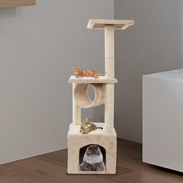Cat Trees Condo on Clearance Furniture Scratching Post Kitten Pet Play Toy House - mbrbproducts