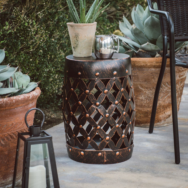 Coral Coast Huxley Metal Garden Stool - mbrbproducts