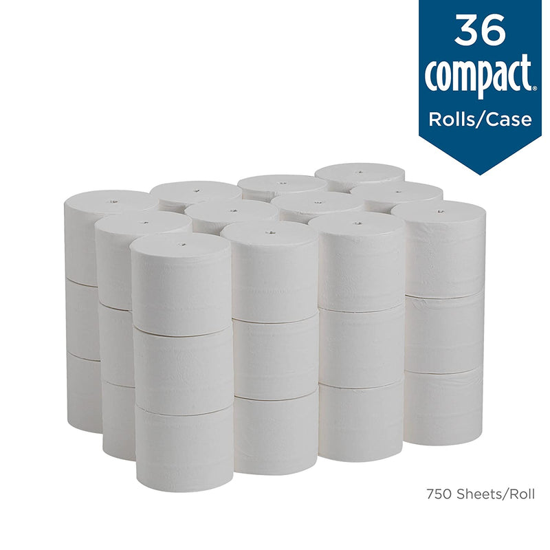 Soft Professional Coreless 2-Ply High-Capacity Toilet Paper, White, 19371, 750 Sheets/Roll, 36 Rolls - mbrbproducts