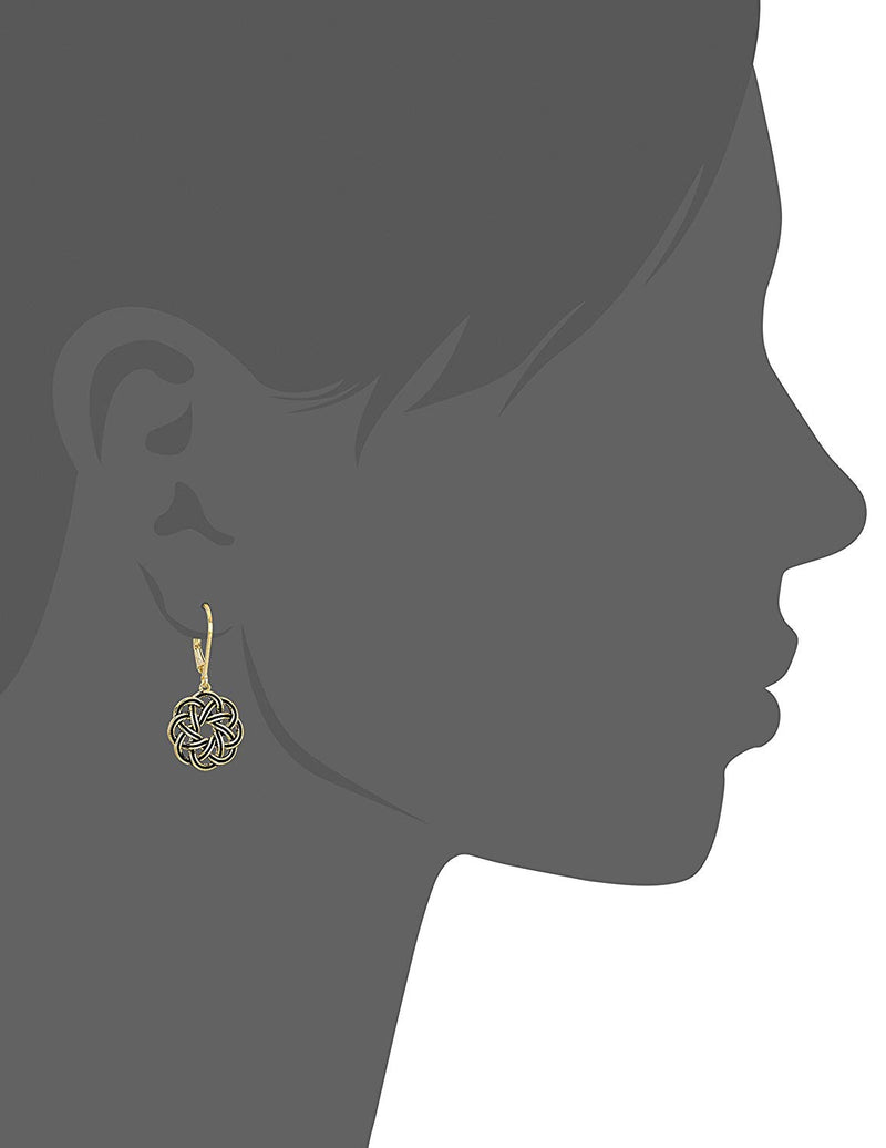 Sterling Silver Celtic Knot Lever-Back Drop Earrings - mbrbproducts