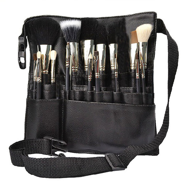 22 Pockets Professional Cosmetic Makeup Brush Bag with Artist Belt Strap for Women ( Brush Not Included ) - mbrbproducts