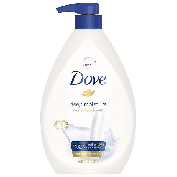 Dove Body Wash Pump, Deep Moisture, 34 Fl Oz (Pack of 1 - mbrbproducts