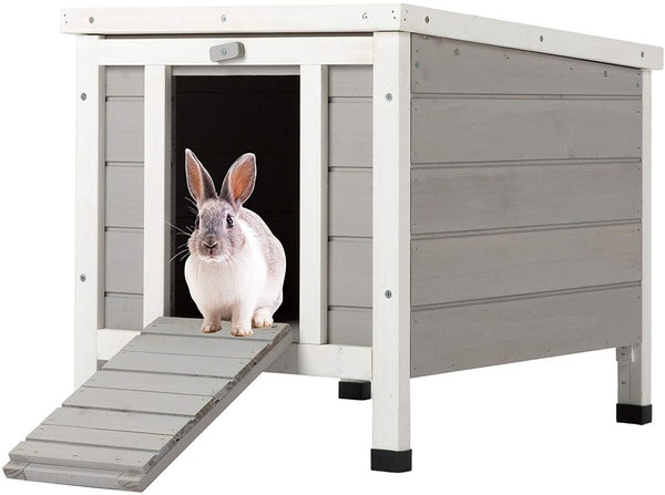 Weatherproof Indoor Outdoor Wooden Bunny Rabbit Hutch Cat Shelter Guinea Pig House - mbrbproducts