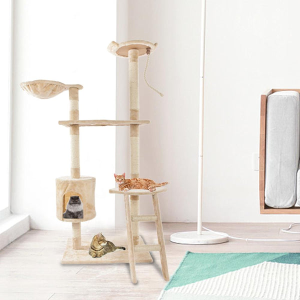 "Cat Tree Scratcher Condo Furniture Pet Play House 60"" - mbrbproducts"