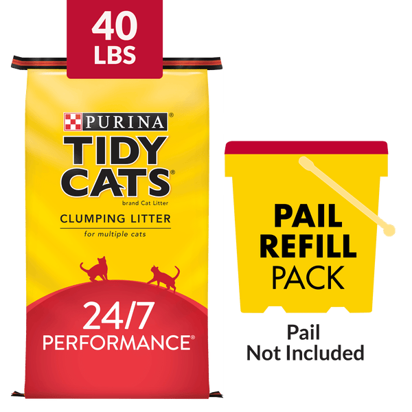 Purina Tidy Cats Clumping Cat Litter, 24/7 Performance Multi Cat Litter - 40 lb. Bag - mbrbproducts