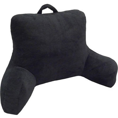 Mainstays Micro Mink Plush Backrest Lounger Pillow, Rich Black 2020 - mbrbproducts