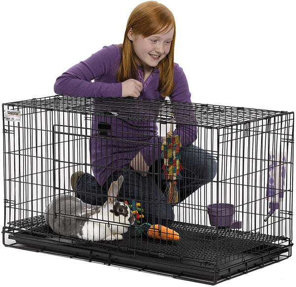 Midwest Wabbitat Folding Rabbit Cage - mbrbproducts