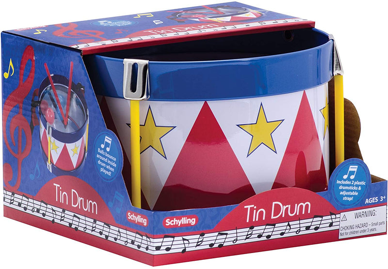 TD Tin Drum With an adjustable strap and two wooden drumsticks - mbrbproducts