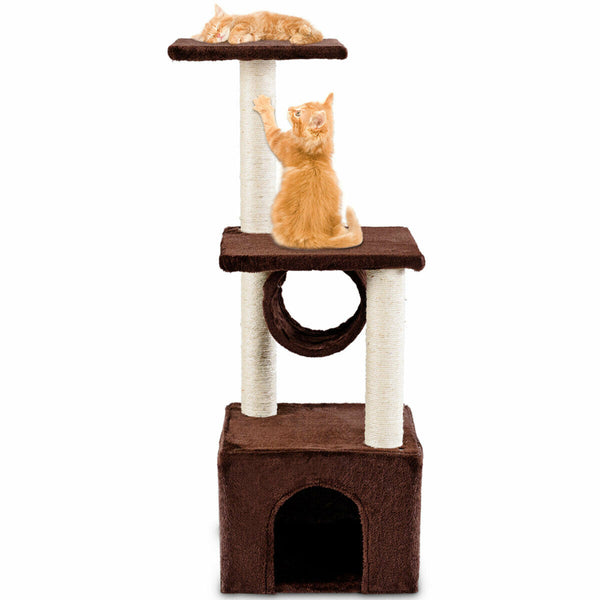 Cat Tree Condo Furniture Play Toy Scratch Post Kitten Pet House Coffee - mbrbproducts