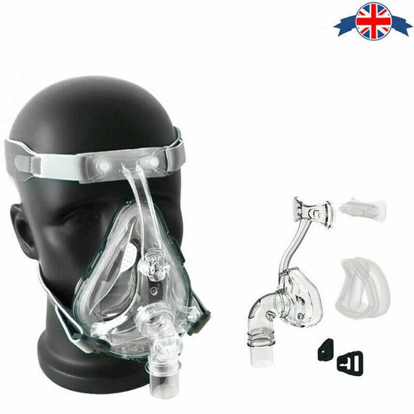 CPAP FM Mask Full Face Nasal Mask Resmed Sleep Snore Respirator Strap with Headgear-M - mbrbproducts