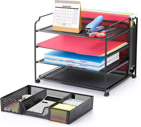 Office Supplies Desk Trending 4-Trays Vertical Upright Section for Office Home, Black 2020 - mbrbproducts