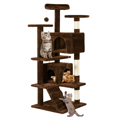 "Cat Tree Tower Condo Furniture Scratch Post for Kittens Pet House Play 51"" - mbrbproducts"