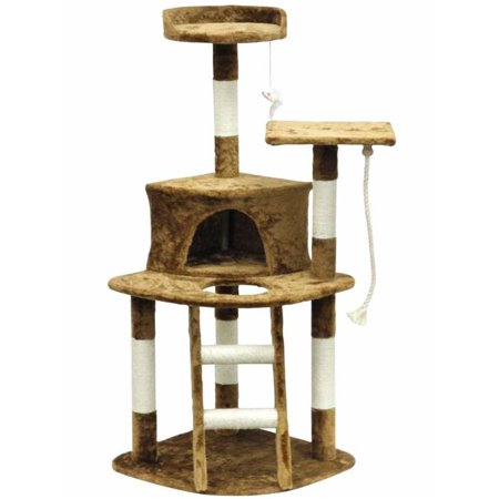 Cat Tree Furniture - Brown Light Weight Economical - mbrbproducts