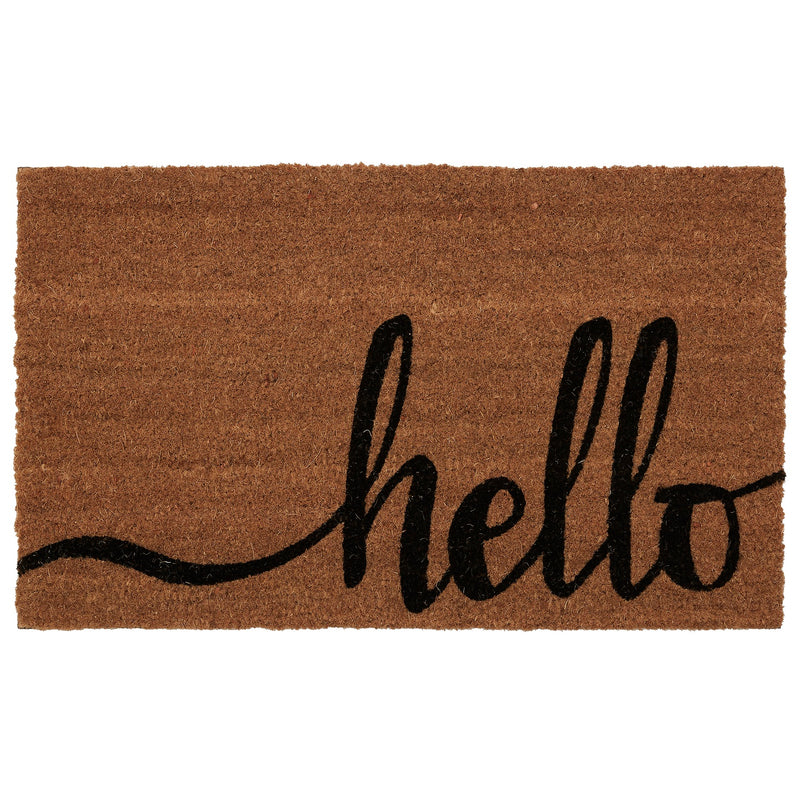"Hello Coir Outdoor Mat, 18"" x 30"" - mbrbproducts"