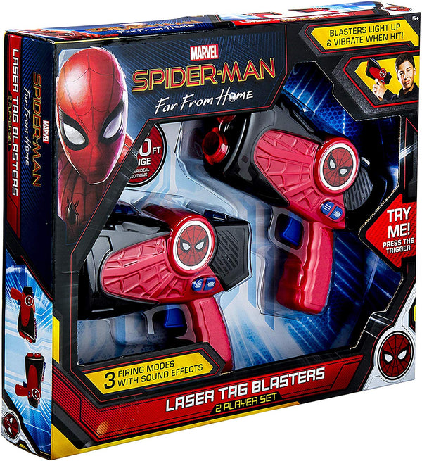 Marvel Spiderman Far from Home Laser-Tag Infared Blasters, Lights Up & Vibrates - mbrbproducts
