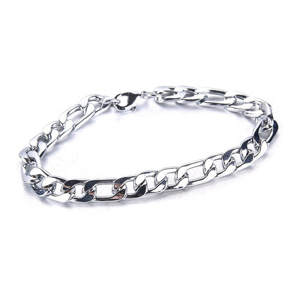 Women's Bracelet Stainless steel jewelry woman Cuban link Chain Bracelets Men's Silver Color Fashion 2020 - mbrbproducts