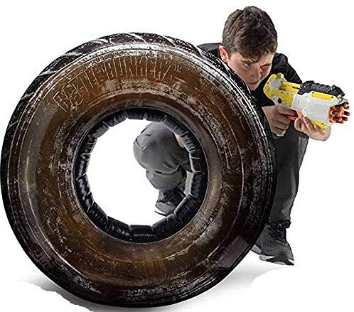 Battlezones Inflatable Take Cover Jumbo Tire Compatible with Nerf, Laser X, X-Shot & Boomco - mbrbproducts