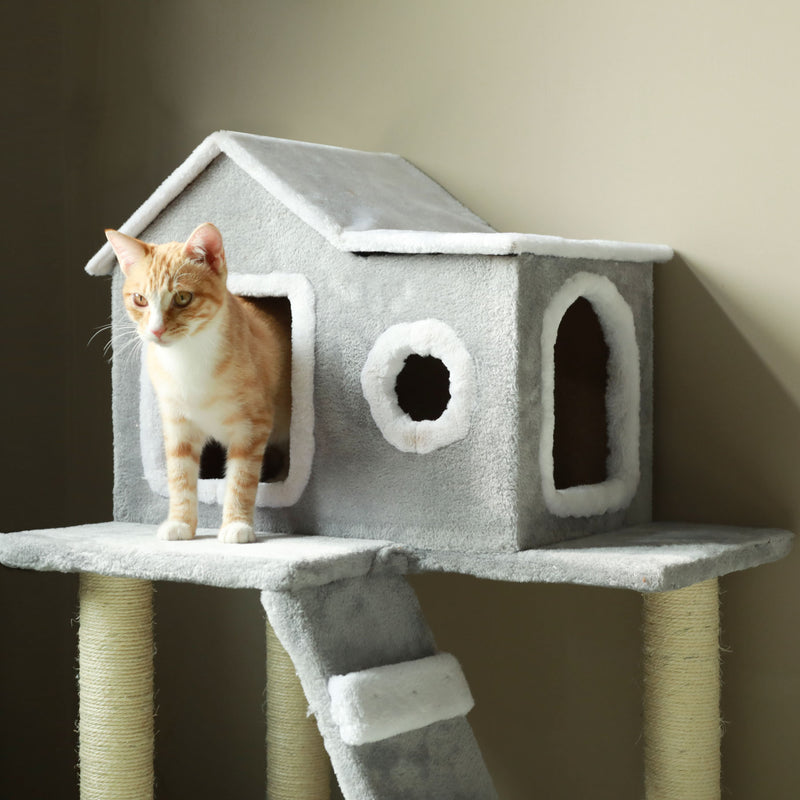 "Pet Play Palace 35.4"" Cat Scratching Tree Furniture - mbrbproducts"