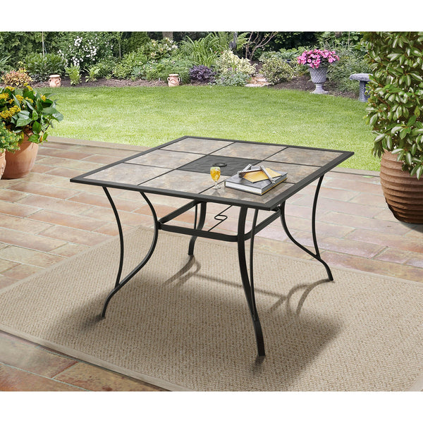 "Mainstays Heritage Park 40"" Tiled Patio Dining Table - mbrbproducts"