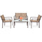 Outdoor Patio Metal Conversation Furniture Set 4-Piece - mbrbproducts