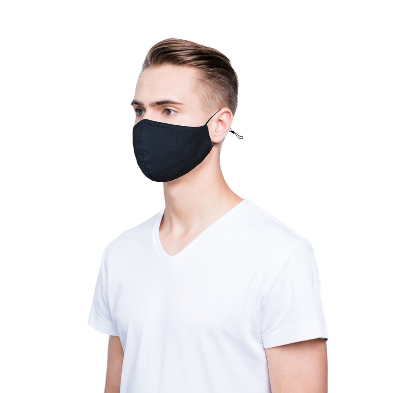 DALIX Cloth Face Mask Reuseable Washable in Navy Blue Made in USA - L-XL Size (5 Pack) - mbrbproducts