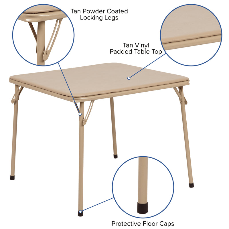 Flash Furniture Kids Tan Folding Table - mbrbproducts