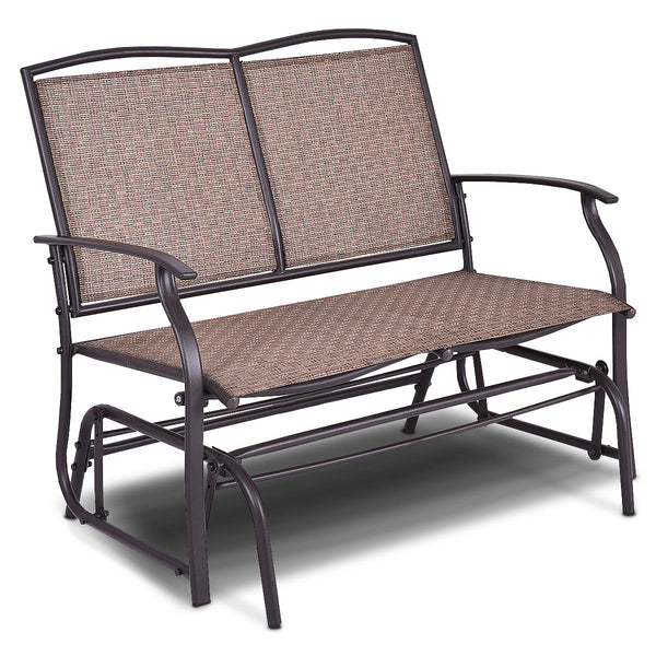 Patio Loveseat Glider Rocking Bench Double Chair With Arm Backyard Outdoor - mbrbproducts