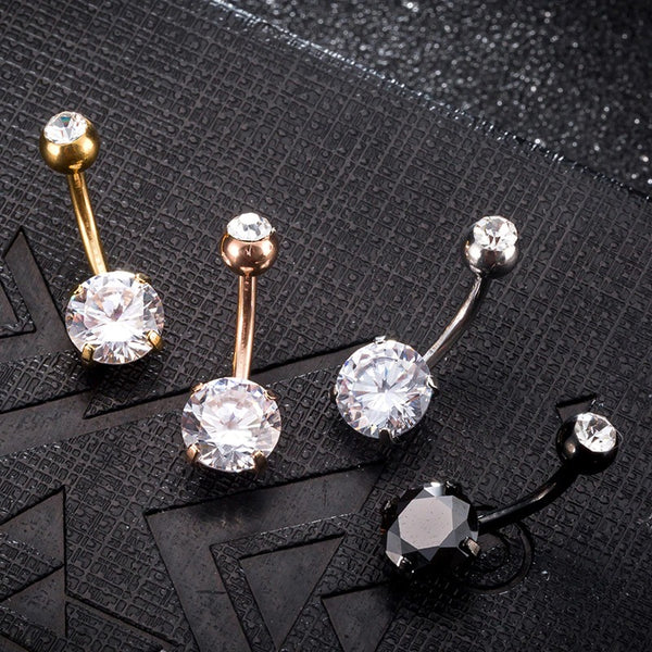 New Summer Style Umbilical Nails Navel Body Piercing Stainless Steel Crystal Belly Button Ring 2020 - mbrbproducts