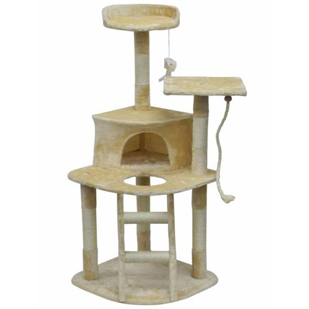 Cat Tree Furniture Beige Light Weight Economical - mbrbproducts
