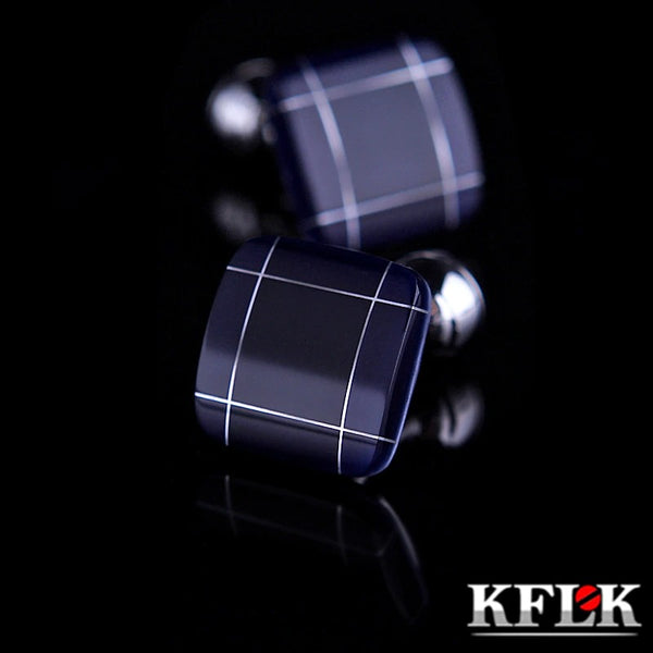 KFLK jewelry fashion shirt cufflinks for mens gift Brand cuff links buttons Blue 2020 - mbrbproducts