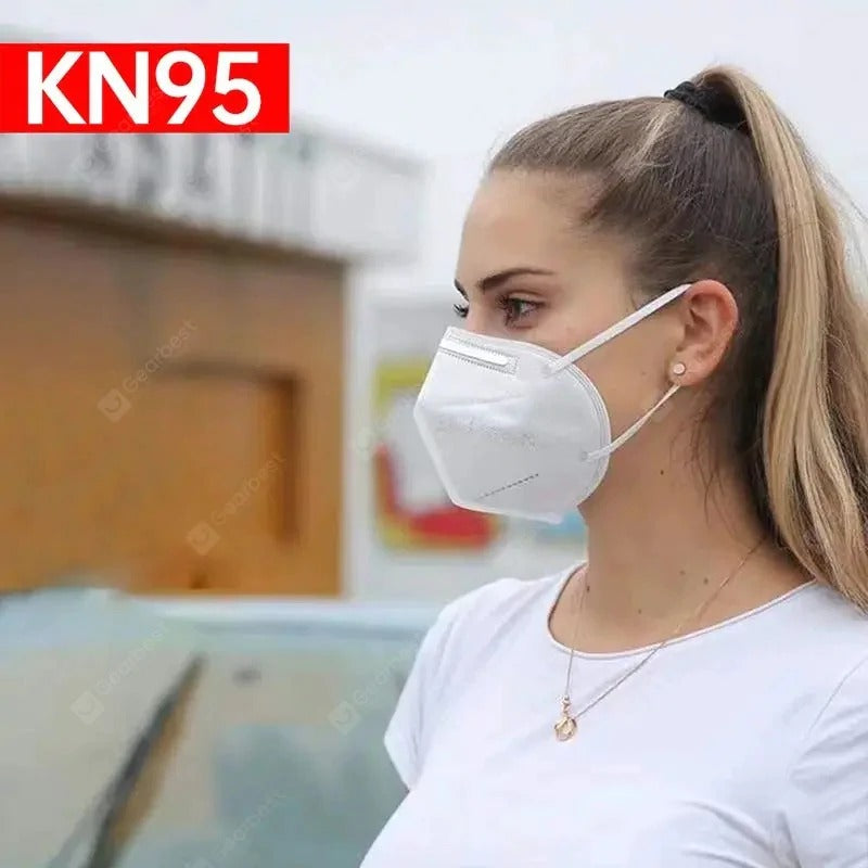 KN95 Face Mask FFP2 N95 Respirator Dustproof Earloop 4 Layer Masks 5PCS - mbrbproducts