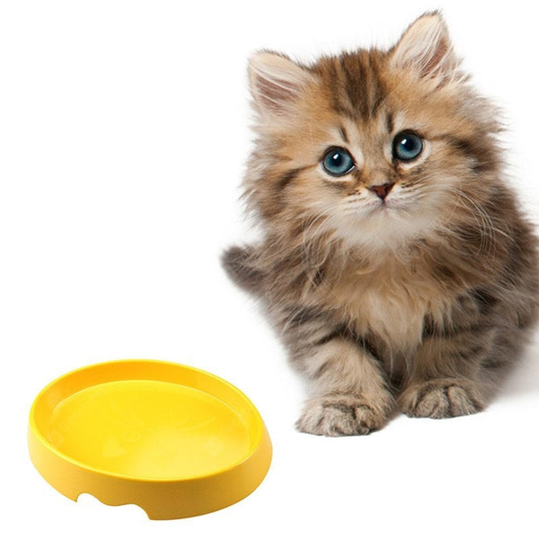 Non-skid Food Grade Melamine Plastic Pet Bowl - Yellow 20.32*15*4.8CM - mbrbproducts