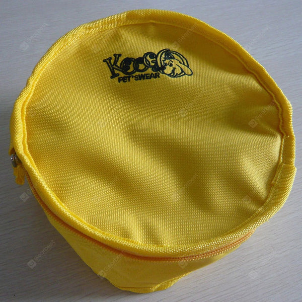 Outdoor Travel Goods Portable Folding Waterproof Pet Bowl Dog Bowl - Yellow Φ20cm - mbrbproducts