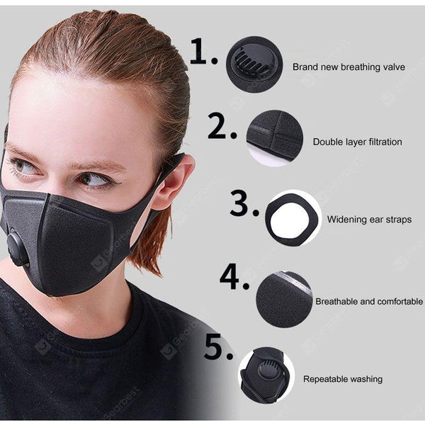 Pollution Mask Military Grade Anti Air Dust and Smoke Pollution Mask with Adjustable Straps - mbrbproducts