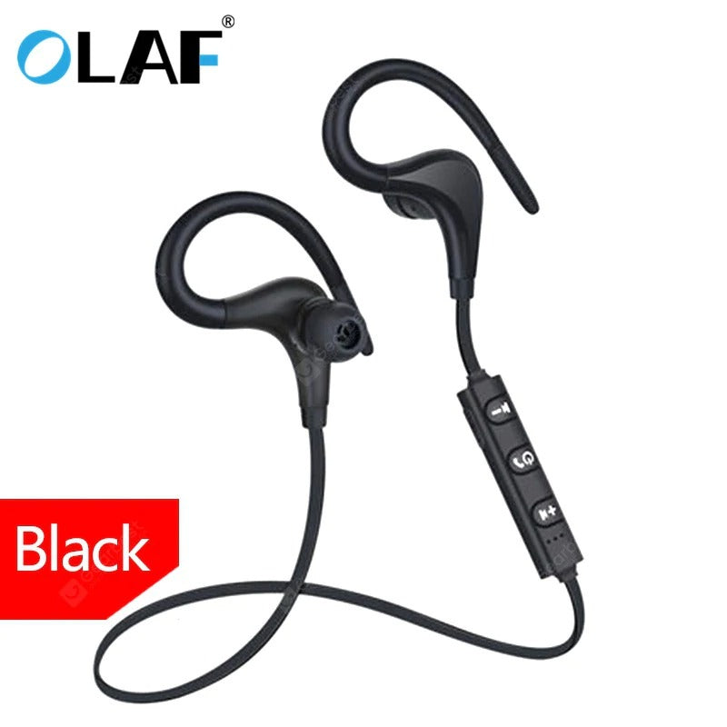 OLAF BT1 Bluetooth Earphone Sport Wireless Ear-hook Headphones Black - mbrbproducts