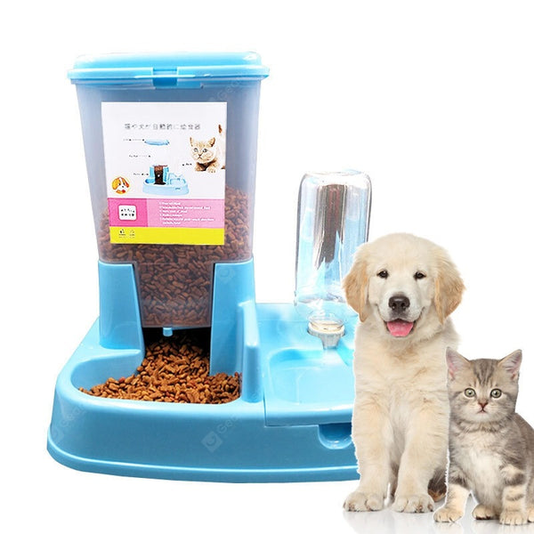 Pet Bowls Feeders And Waterers Double Bowl Automatic Drinking Bowl - mbrbproducts