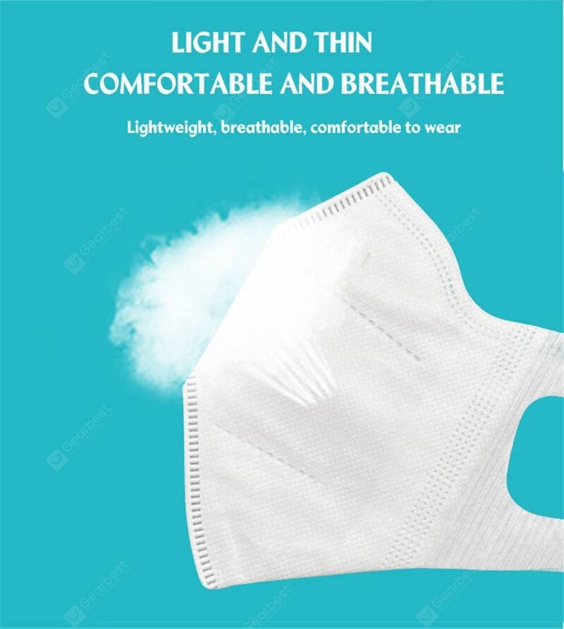 3D 3-ply Face Mask Respirator Disposable Non-woven Pm2.5 Mouth Face Mask 10 pcs - mbrbproducts