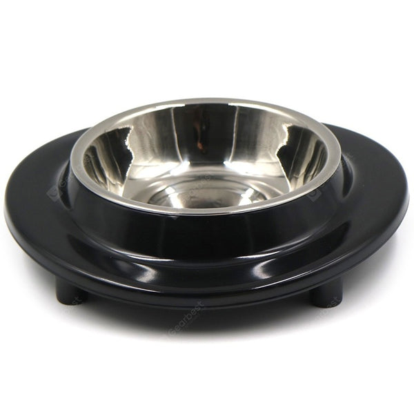 Non-slip Round Melamine Two in One Stainless Steel Pet Bowl 2pcs - mbrbproducts
