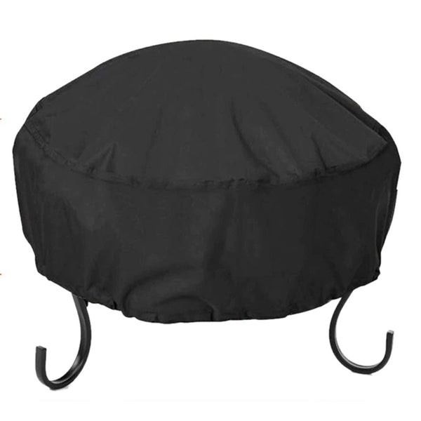 Fire Pit Cover Round 34X16 Inch Waterproof 210D Cloth Heavy Duty Bowl Cover Black - mbrbproducts
