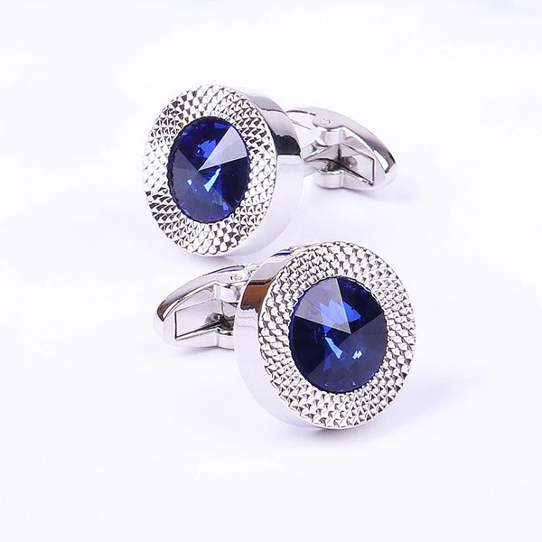 Men Classic Brand Blue Prismatic Cuff Button Designer High Quality Men's Shirt Taper Cuff Links 2020 - mbrbproducts
