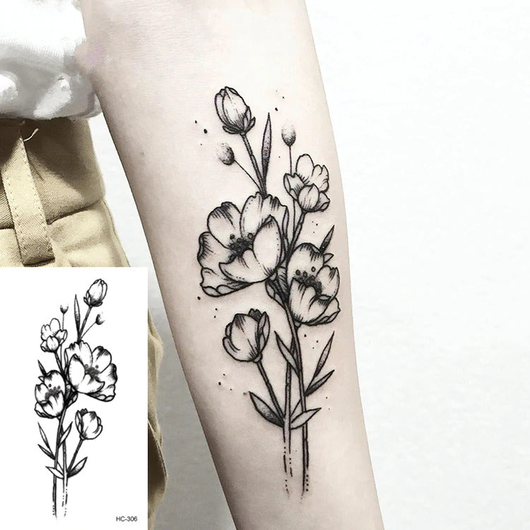 1 PC Temporary Tattoo Sticker Women Fashion Geometric Planet Flower Arm Body Art Large - mbrbproducts